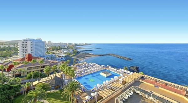 Tenerife, Hotel Iberostar Bouganville Playa, piscina, hotel, panorama.jpg