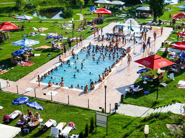 Danesti, Hotel Secret Garden, piscina exterioara, gradina.jpg
