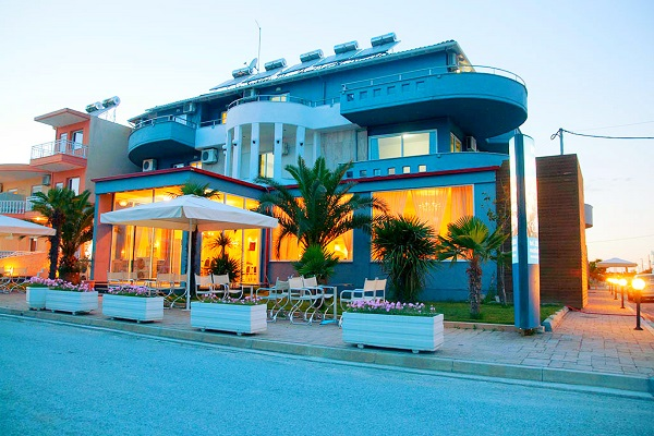 Paralia Katerini, Hotel Yakinthos, exterior, hotel, intrare.jpg