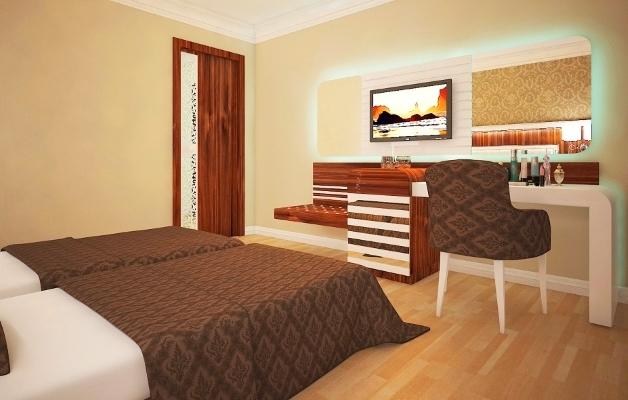 Alanya, Hotel The Lumos Deluxe Resort, camera, pat, TV.jpg