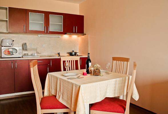 Primorsko, Hotel Prestige City II, apartament, chicineta.jpg