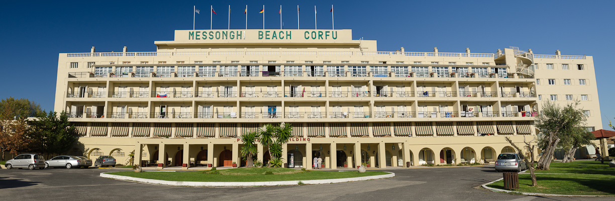 Corfu, Hotel Messonghi Beach, intrare.jpg