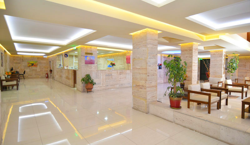 Thassos, Hotel Olympion, interior, receptie, lobby.JPG