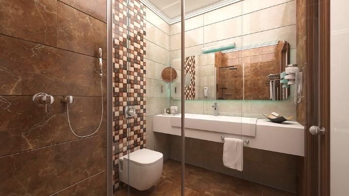 Alanya, Hotel The Lumos Deluxe Resort, camera, baie, cabina dus, chiuveta.jpg