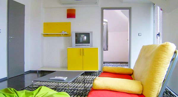 Sunny Beach, Hotel Sunny Beauty, apartament, living, tv.jpg