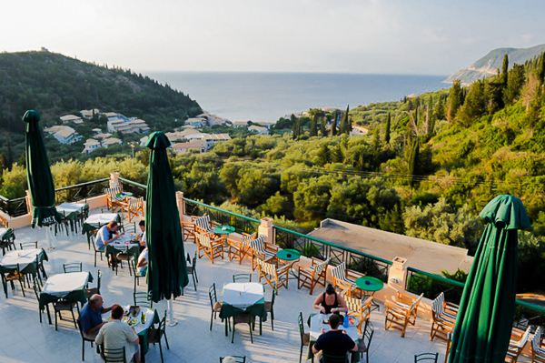 Lefkada, Hotel Santa Marina, restaurant exterior.jpg