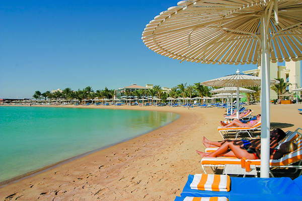 Hurghada, Hotel Hilton Resort, plaja.jpg