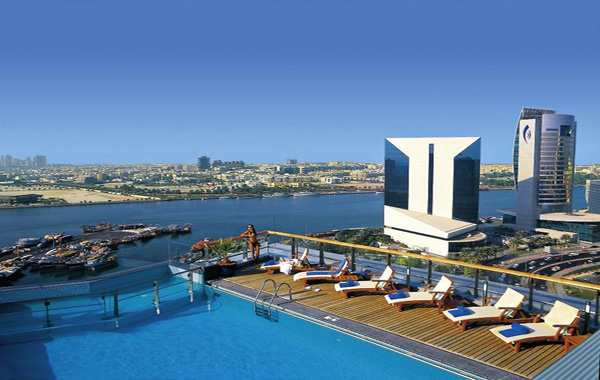 pool at hilton dubai creek.jpg